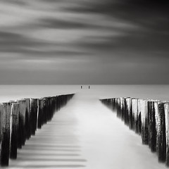 Domburg Groynes IV - The print is the equivalent of the conductors performance... (Joel Tjintjelaar) Tags: square bwphotography daytimelongexposure anseladamsquote tjintjelaar dutchseascapes groynesiv domburggroynesiv williamturnage bwlongexposurephotography