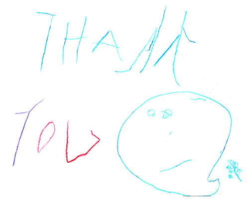 Thank You Card by Lara