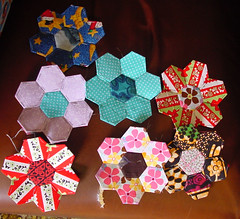 English Pieced Hexagons 3