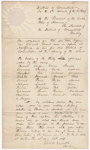 Warrant for Habeas Corpus, 11/19/1839 - 11/19/1839