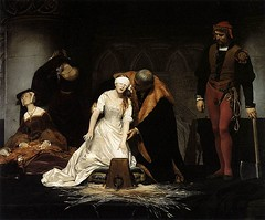 Delaroche, Paul (1797-1856) - 1833 The Execution of Lady Grey (National Gallery, London) (RasMarley) Tags: french interior group 19thcentury nationalgallery chiarascuro painter baroque groupportrait 1833 romanticism delaroche 1830s pauldelaroche historicart academicism theexecutionofladyjanegrey
