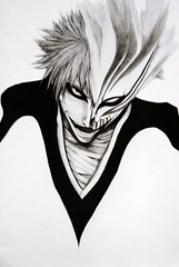 Ichigo Kurosaki (Jeen Na) Tags: man anime pencil japanese sketch mechanical drawing ghost manga bleach soul demon hollow realism ichigo shading kurosaki explored