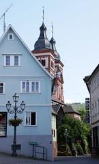 Amorbach, Blick auf die Türme der Abteikirche (belltowers of the Abbey Church) (HEN-Magonza) Tags: amorbach abteikirche barock baroque abbeychurch glockenturm belfry belltower mainfranken unterfranken bayern bavaria lowerfranconia odenwald