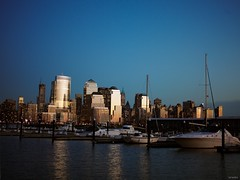 lower manhattan as seen from newport landing, jersey city nj (branko_) Tags: pictures city blue by skyline sailboat rollei digital rolleiflex marina boat sailing manhattan nj taken landing newport jersey medium format show1 cobalt sinar hy6