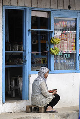 Shopkeeper, CENTRAL JAVA, INDONESIA (MARIANO GARCIA MONZON) Tags: street portrait people panorama woman work indonesia landscape java workers nikon women faces working panoramic panoramica job trade soe seller employee profession shopkeeper occupation d300 indonesians marianogarciamg