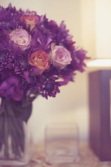 Why are the test shots the best? (DaisyCat77) Tags: pink flowers test orange glass lamp purple shot bunch bouquet