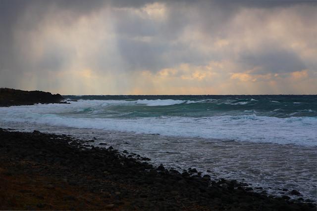 波間の光線