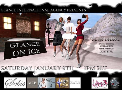Glance On Ice Showcase Flyer
