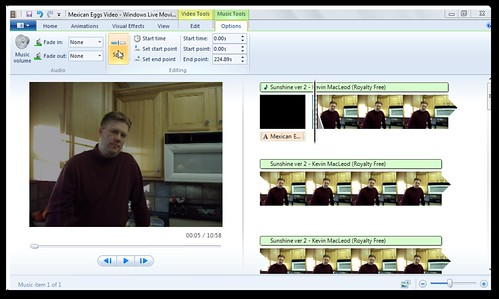 Split audio in Windows Live Moviemaker