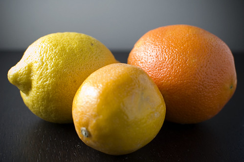 Lemon, orange, meyer lemon