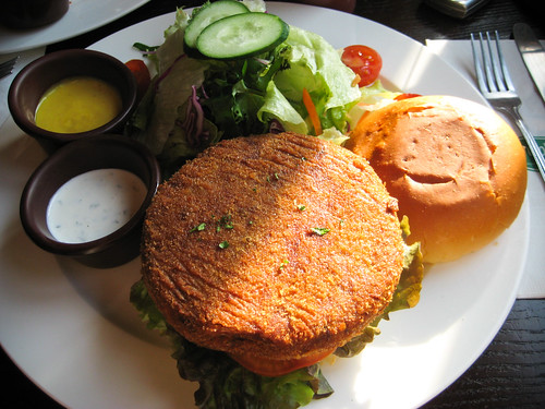 The Wolfhound Pub's Veggie Burger
