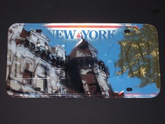 2 stencils on old licence plate (andy_wallwhore) Tags: stencils ny art cars albany spraypaint foundart architexture andywallwhore
