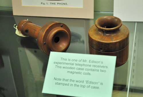 One of Edison's experimental phone receivers