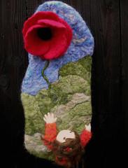 Reaching Heaven needle felted sculptural painting wm 1 (Nushkie Design) Tags: wool wall paintings collection sculptural wallhangings hangings