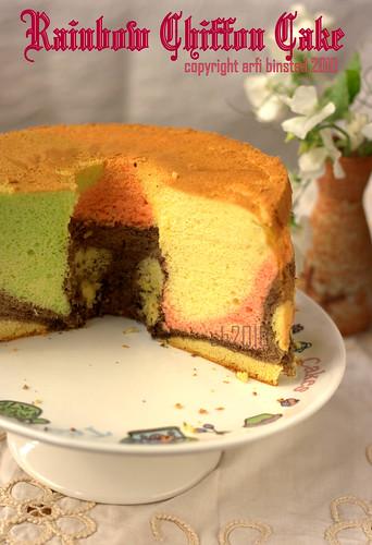 Rainbow Chiffon Cake by ab2010