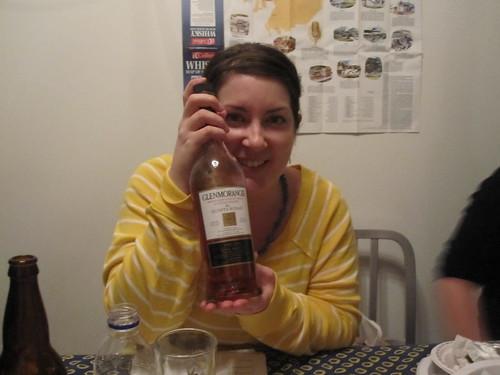 J'ai gagné la bouteille que je voulais!