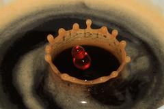 Crema Tropfen (ff137) Tags: macro cup water tasse coffee milk drops cafe kaffee drop espresso splash cappuccino tropfen milch spritzer