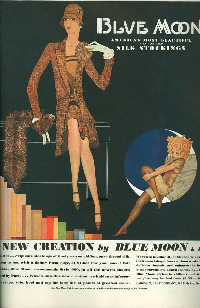 Blue Moon silk stockings, 1929