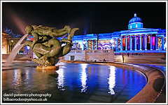 Trafalgar Square - London Night (david gutierrez [ www.davidgutierrez.co.uk ]) Tags: road street city trip travel blue light vacation sky urban holiday color building london art tourism glass lamp colors architecture modern night composition buildings wonderful point photography photo europe cityscape colours view angle image artistic weekend gorgeous sony awesome centre capital perspective picture cities cityscapes trafalgarsquare officebuilding wideangle pic center architectural more foster 350 picasso future stunning excellent nights metropolis unusual lovely alpha fabulous avenue dt municipality greatphotographers f4556 1118mm flickrsbest coth5 sonyalphadt1118mmf4556 sony350dslra350