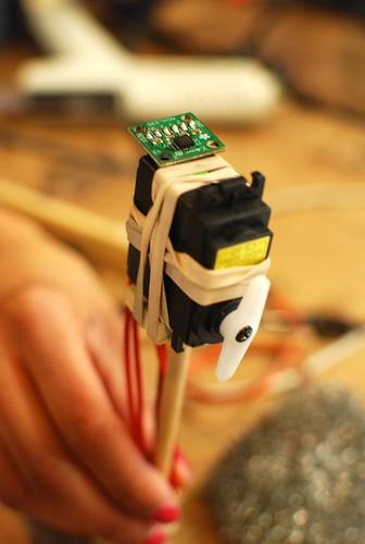 Balance Bot accelerometer and servo