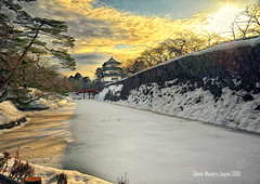 Hirosaki Castle Japan.  Glenn Waters. Over 37,000 visits to this photo.  Thank you. (Glenn Waters in Japan.) Tags: trees winter sunset sky sun snow cold castle history tourism beautiful japan pinetree clouds landscape japanese frozen nikon fort dusk traditional australian kingdom explore aomori  historical sakura cherryblossoms samurai hirosaki nikkor shogun moat fortress     japon edo cherrytrees touhoku  bushi  2470mm tsugaru japanesecastle    explored  hirosakicastle japanesecastles  d700  nikond700 nikkor2470  glennwaters nikkor2470mmf28gedafs photosjapan