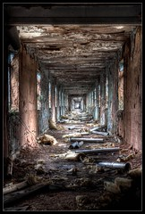 The Long Walk (Romany WG) Tags: world abandoned beautiful hospital corridor longest derelict decayed urbex hauntingly
