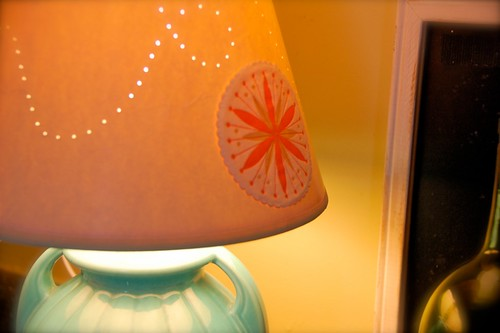 thrifted lamp, the shade