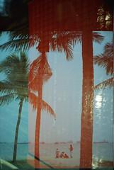 Day 42: Sanook by the Beach (gingerbreadtot) Tags: film beach kodak doubleexposure 24mm 135 gsn portra vc yashica ais 160 thaiexpress 24mmf2