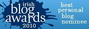 Irish Blog Awards badge