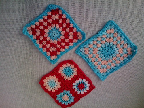 Beautiful Squares all the way from Gibraltar! Thank you! Handmade in Gibraltar.   If anyone is interested in joining in to make Blankets for the Elderly please visit  suesfavouritethings.blogspot.com