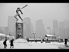 Just your typical morning walk to work... (phxpma) Tags: nyc snow monument statue skyline newjersey memorial jerseycity waterfront manhattan snowstorm nj hudsonriver blizzard exchangeplace katyn hudsoncounty electricboogaloo katyń katyńmassacre snowpocalypseii agreyexistence winterdefinitelyineffect polishprisonersofwar armyofficersintellectualspoliceetckilledbyordersfromstalin