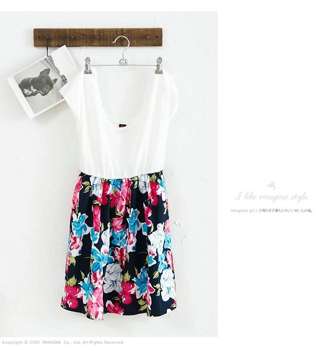 hibiscus patch dress1
