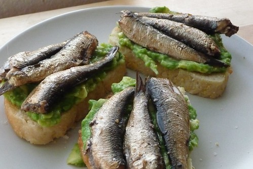 Sprats and Avocado Sandwich