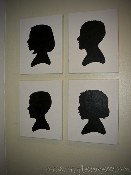 silhouette canvas finished hanging