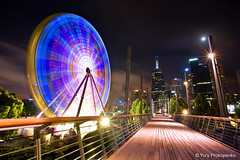 Melbourne, Australia :: Giant Sky Wheel (-yury-) Tags: sky wheel giant long exposure australia melbourne nighr supershot abigfave