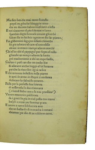 Page of text with variant reading in Cornazzano, Antonio: La vita di Cristo