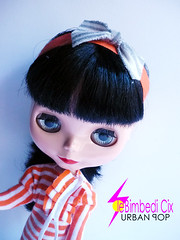 Orange striped & gray