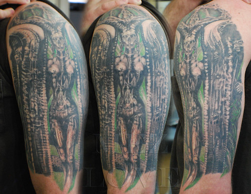 H. R. Giger tattoo