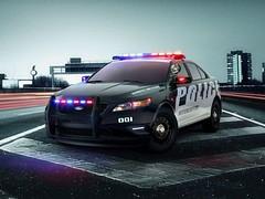 Ford Taurus Interceptor police car (www.Dream-car.tv) Tags: ford car police taurus interceptor dreamcartv
