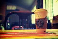 Starbucks in the light {Explored} (Victor Mui) Tags: pictures morning light photography this flickr moments taken before victor just starbucks did splash really wasnt mui i