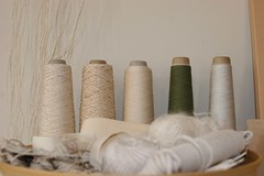 IMG_7522_4721 (kikiclark) Tags: sanfrancisco art studio artwork natural linen minimal fabric string creativeprocess