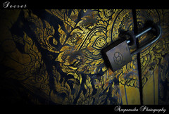 Secret /  (AmpamukA) Tags: door closet temple gold cabinet lock secret carve thai       ampamuka