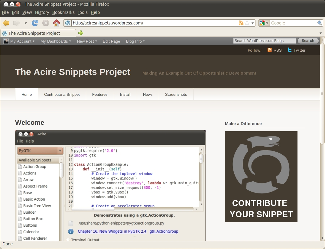 New Acire and Python Snippets Website - Jono Bacon