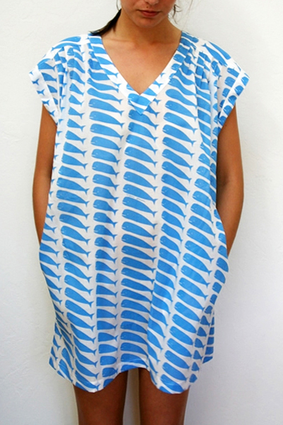 beklina.com Virginia Johnson Jaipur Tunic Whale Blue