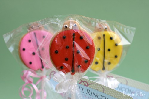 Ladybirds on a stick