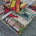 Envelopes made from recycled Beano magazines
