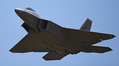 An F-22 Raptor from the 27th Fighter Squadron at Langley AFB (mikelynaugh) Tags: raptor stealth f22 airforce lockheed langley fs 27th afb airforcebase lockheedmartin langleyafb f22raptor lynaugh mikelynaugh 27thfs fightineagles