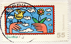beautiful stamp Germany 55c  'Danke!' (Mercie Thanks, obrigado,  谢谢, tak, grazie, ありがとう, Gracias, köszönöm, hvala, σας ευχαριστώ, תודה, धन्यवाद,  Tack, спасибо, 고맙습니다, dank u wel, sağol, хвала, ďakujem) poste timbre allemagne sellos selo alemanha (stampolina, thx for sending stamps! :)) Tags: bilder blumen flowers timbre stamp selo bollo postage revenue porto sellos marka briefmarke francobollo allemand francobolli gelb yellow himmel stamps briefmarken marke selos germany frg bundesrepublikdeutschland comic komik sello duitsland маркагермания tiere estampillé bollato visé марка flores jaune timbreposte postes blue blau أزرق 蓝色 màuxanh 切手 timbru почтовыемарки डाकटिकटों timbresposte timbres postagestamps 邮票 perangkoperangko postapulu pulu danke mercie thanks obrigado 谢谢 tak grazie ありがとう gracias köszönöm hvala σασευχαριστώ תודה धन्यवाद dankuwel sağol хвала ďakujem tack