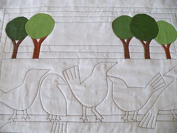 Birds and B's Art Quilt