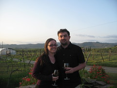 Erin and me, in the garden at Laja